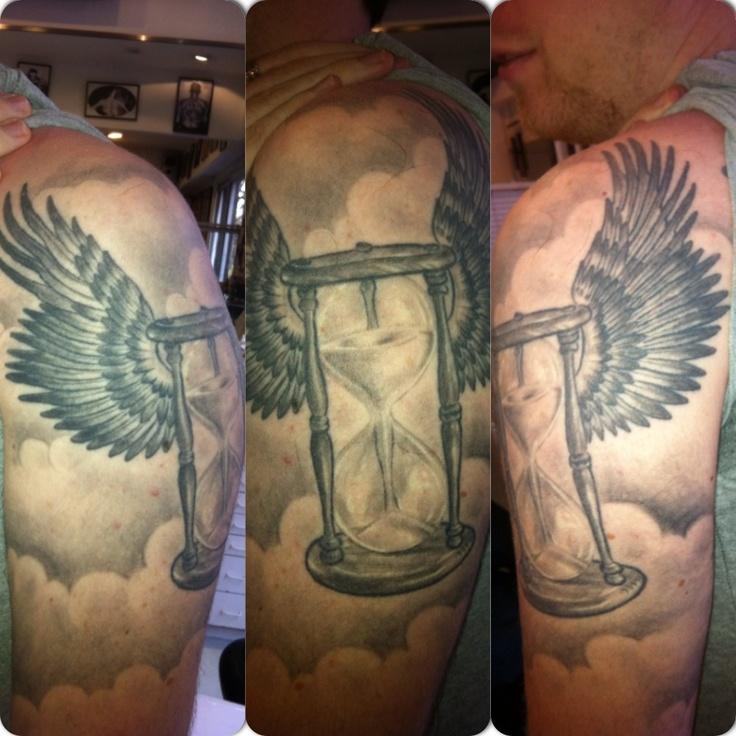 time flies Face Tattoo