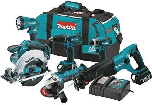 Makita Cordless Tool Set Combo Kit Impact Driver 18V Saw Grinder Power Drill 6pc
