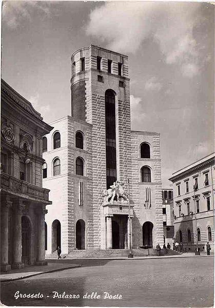 Palazzo delle Poste, Grosseto (1953) Architettura