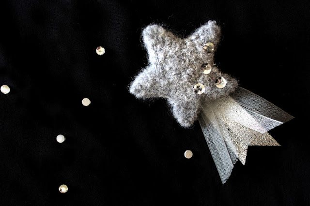 Make a felted shooting star pin