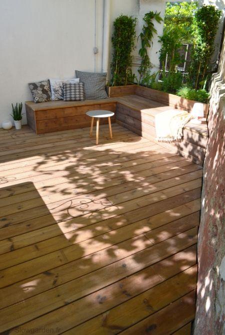 Sous l'ombre de la vigne / Slowgarden /Réalisation d'une terrasse / Terrace