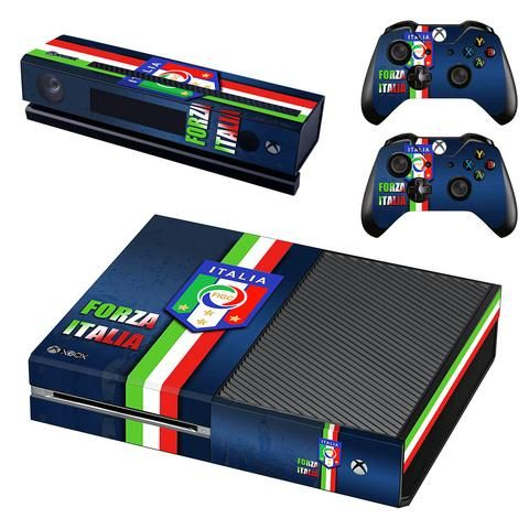 Italy national football team xbox one skin decal for console and 2 controllers
