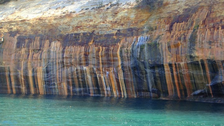 Painted Coves At Pictured Rocks Lakeshore Munising Mi The