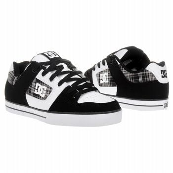 Athletics DC Shoes Men's Pure XE Black / White / Plai FamousFootwear.com