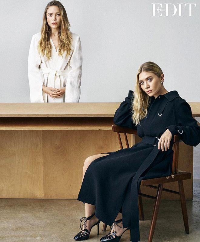 Мэри-Кейт Олсен с сестрой Эшли в съемке издания Edit