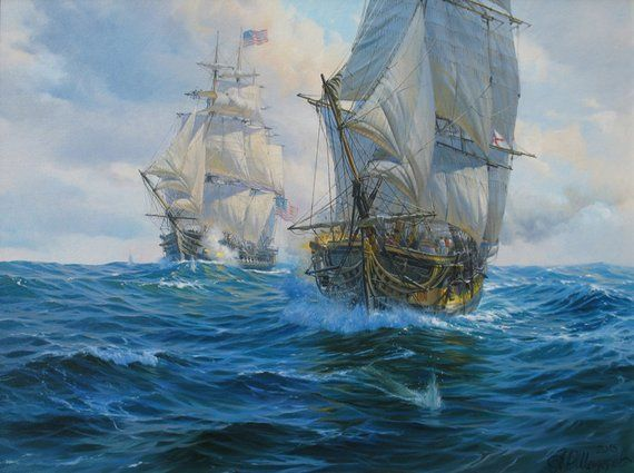 Large Picture Chinese Boat Sailer Canvas Art Cheap Print