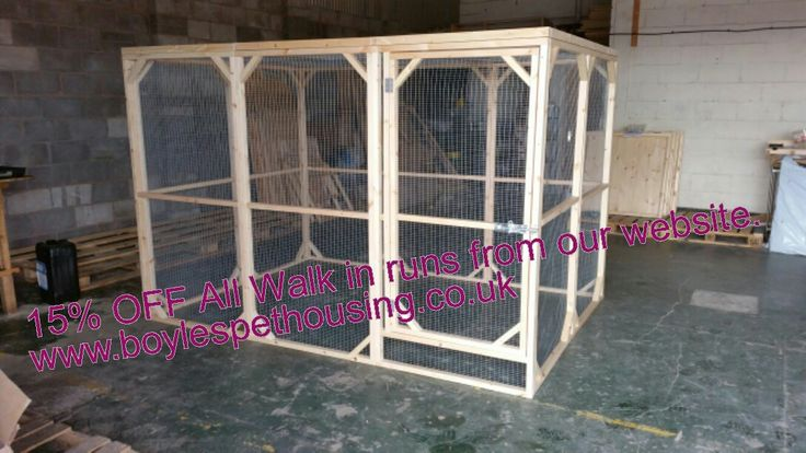 Amazing Large Rabbit Run. Perfect Rabbit Exercise Area/ Currently On Sale Until February 2017  Handmade By Boyles Pet Housing Putting Rabbit Welfare First.