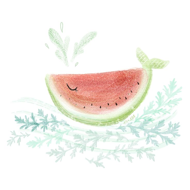 Watermelon whale, inspired by my little miss watermelon