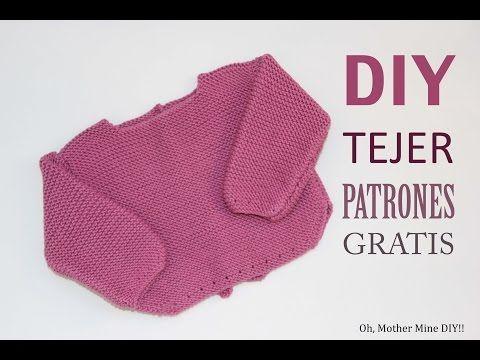 DIY Patrones de jersey de lana para primera puesta (gratis) - YouTube