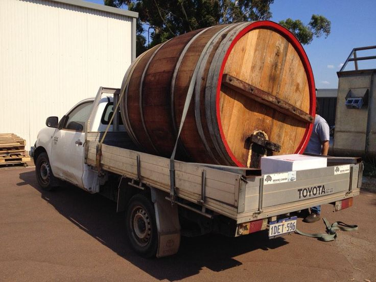This beaut old oak cask is on its way over to its new home at @FeralBrewing!