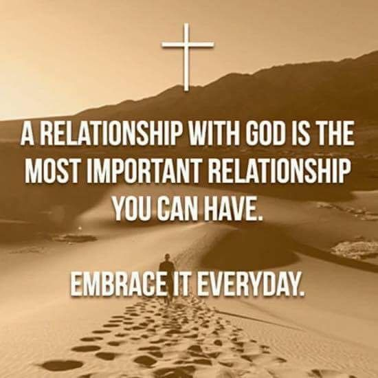 #1 relationship is with God