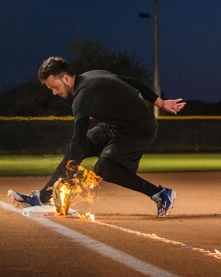 "57.1k Likes, 318 Comments - Kris Bryant (@kris_bryant17) on Instagram: ""Third base isn't for the faint of heart! Thanks for helping me bring this idea to life @redbull.…"""