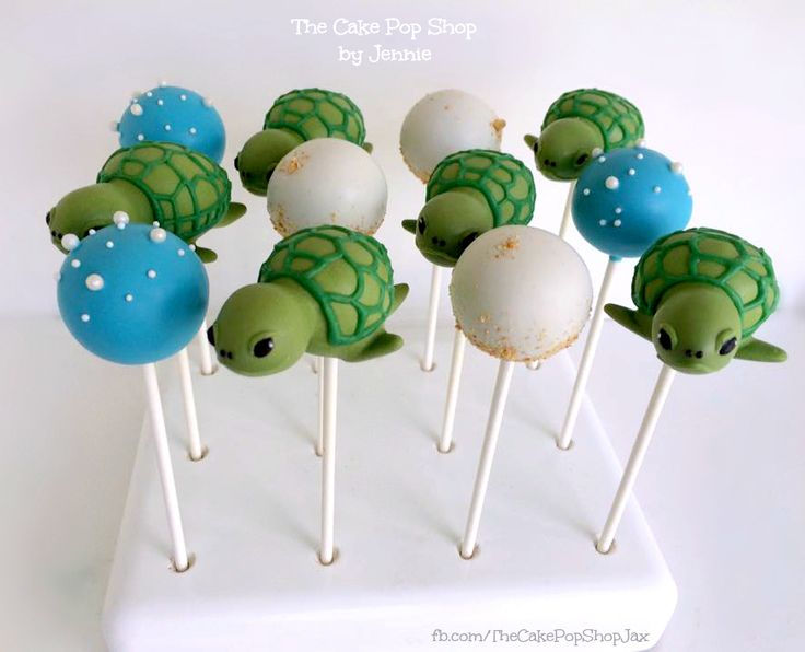 Sea Turtle kc bake stand 2 -- by The Cake Pop/Shop -- on RoseBaes.com -- 6-24-16