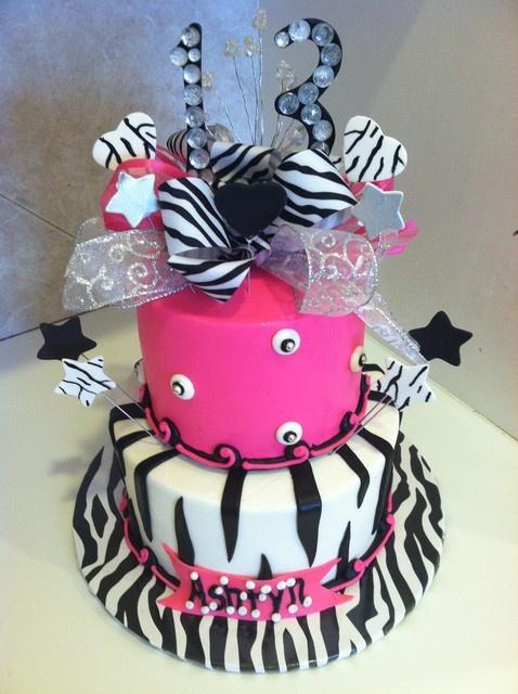 Pictures Of Zebra Print Cakes