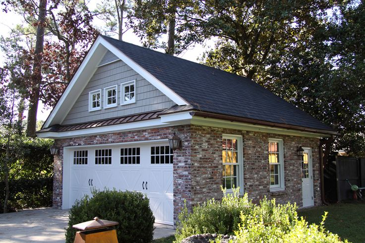 25 best ideas about detached garage on pinterest for Two car garage with loft cost
