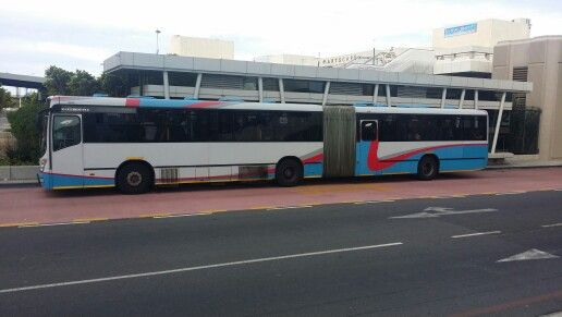 Articulated Bus at the Civic Center