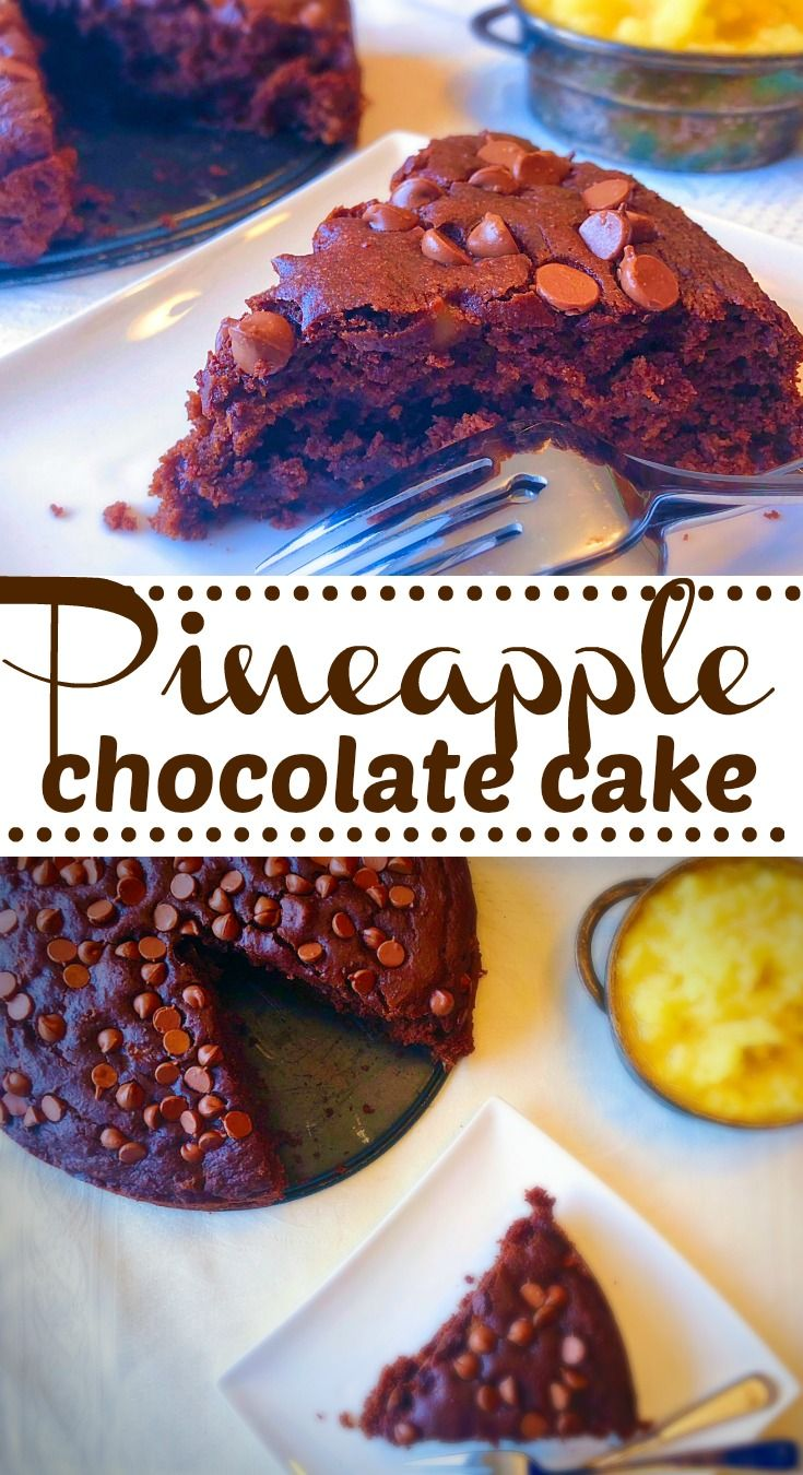 Moist, dense and chocolatey cake with a delicious pineapple twist on Elle's Gourmet Life #cake #chocolate #pineapple