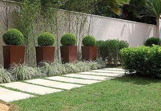 Front pathway, large format pavers