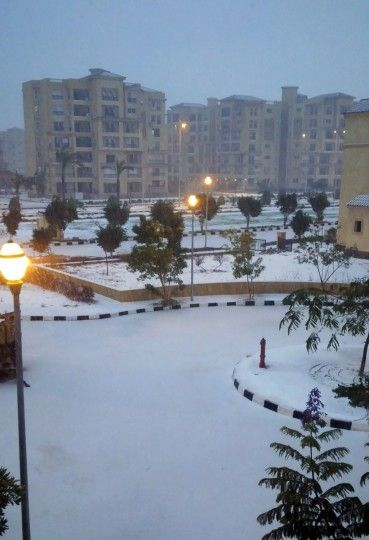 It's snowing in Cairo after 100 years!
