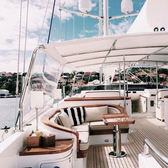 Private luxury yacht   www.bocadolobo.com #bocadolobo #luxuryfurniture #exclusivedesign #interiordesign #designideas #livingroomideas #decoration #homedecor #livingroomdecor