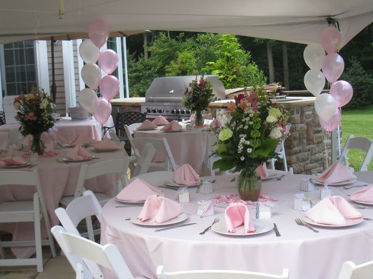 78 ideas about backyard baby showers on pinterest for Baby shower decoration ideas for a girl