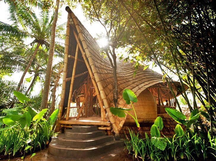 Ibuku Constructs Three Bamboo Homes in Bali's Gorgeous Green V...