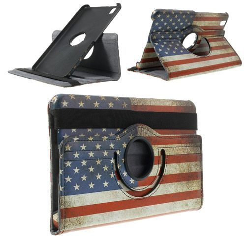 Javu - Samsung Galaxy Tab Pro 8.4 Hoes - Rotatie Cover Amerikaanse Vlag | Shop4TabletHoes