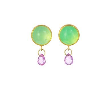 Mallary Marks - Chrysoprase and Pink Sapphire Earrings in New Earrings at TWISTonline