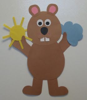 "Cute craft for Groundhog""s Day and weather lessons"