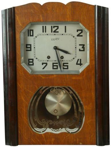 Vintage 1950 German Regulator Wall Clock Eames Era by Vaney Transitional