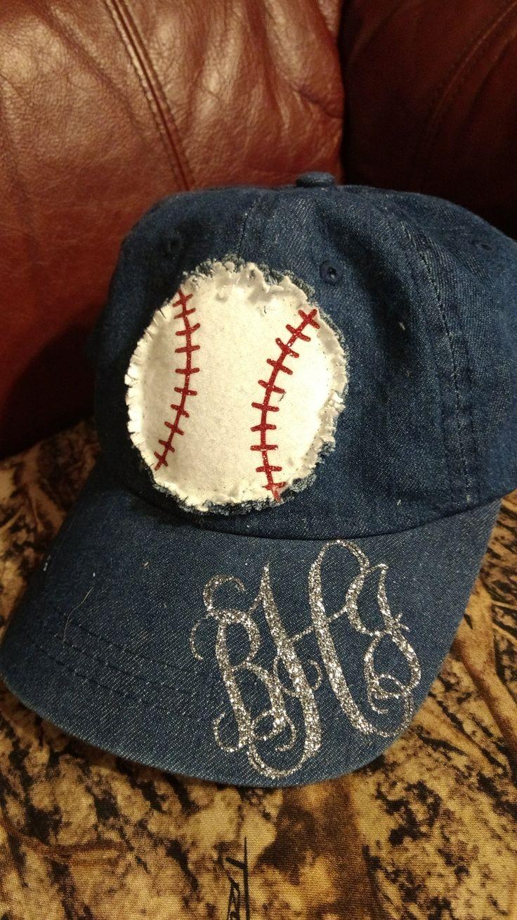 Women's baseball monogram hat
