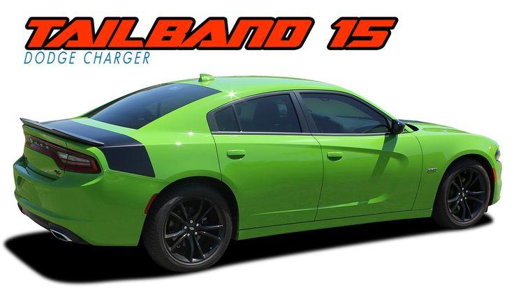 Tailband 15 2015 2021 Dodge Charger Hemi Daytona R T Srt 392 Hellcat Mopar Blackout Style Rear Decklid Trunk Vinyl Graphics Decals Kit Dodge Charger Dodge Charger Hemi Vinyl Graphics