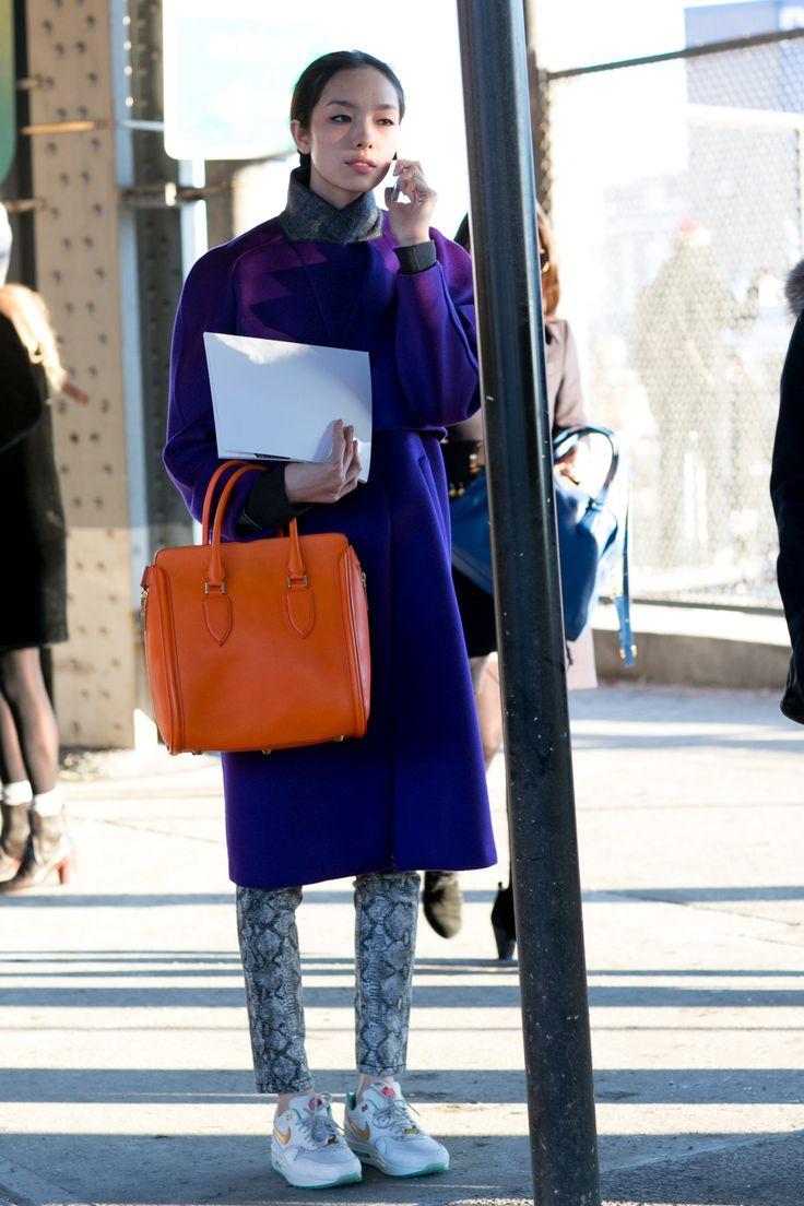 Street fashion: NYFW jesień-zima 2014/2015, dzień 6, fot. Imaxtree