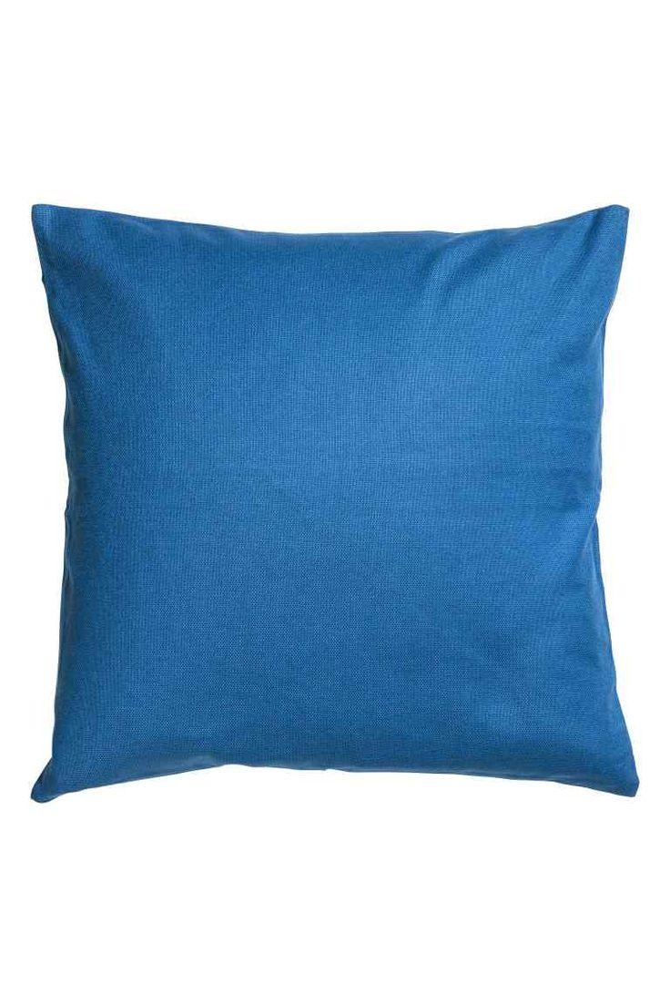 Plátěný povlak na polštářek - Modrá - HOME | H&M CZ 1
