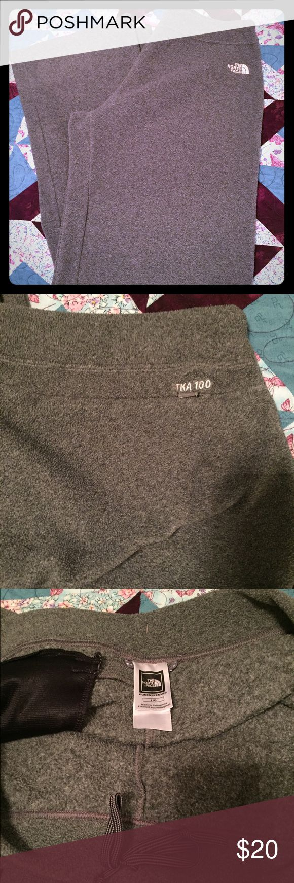The North Face Fleece Pants - grey Super comfy fleece pants. Back zip pocket. Inside drawstring. The North Face Pants