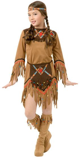 White Dove Indian Girl Kids Costume