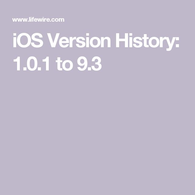iOS Version History: 1.0.1 to 9.3
