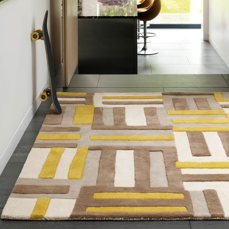 Yellow Rugs For Living Room Part   49: Matrix Code Rugs MAX17 Yellow