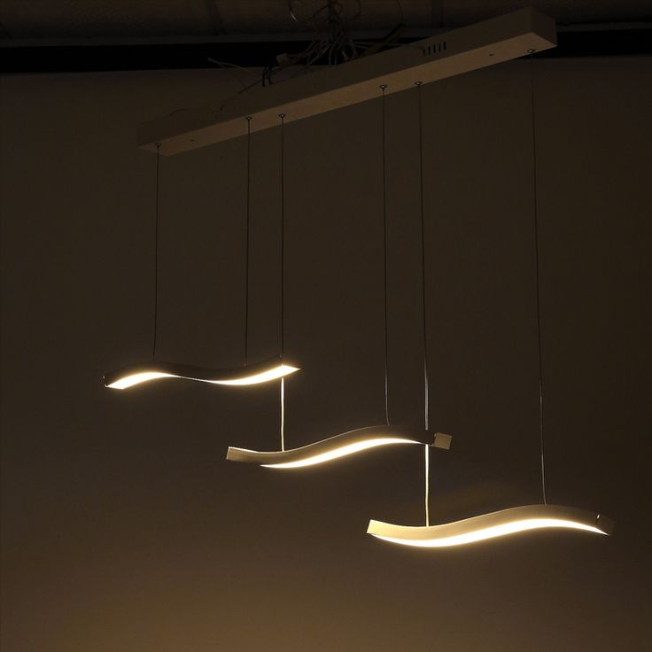 109 best modern place lighting images on pinterest commercial three wave led pendant light fixture pendant lighting mozeypictures Image collections