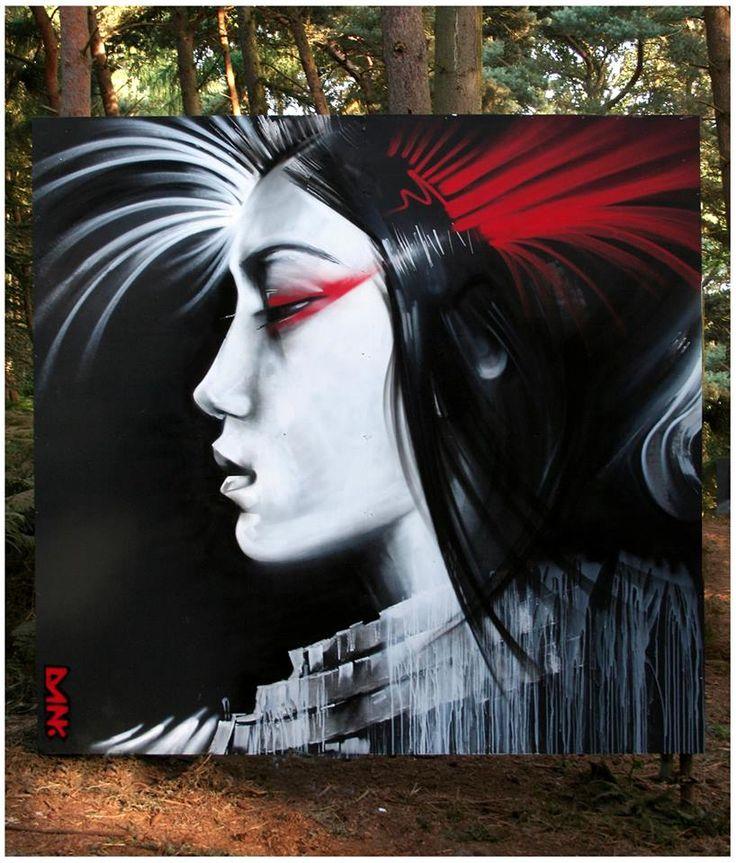 by Dan Kitchener ( DANK ) #arteurbana #streetart #mural #wall #urbanart #graffiti