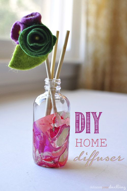 How to Create Your Own DIY Marbled Room Diffuser Using Old Glass Jars! - I was tired of buying Room Diffusers for various rooms in my home and having them stick…