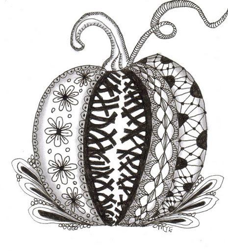 pumpkin mandala coloring page - 49 best zentangle pumpkin turkeys images on pinterest