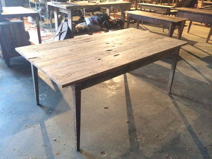 All Natural Dining Tables Made From Reclaimed Wood By Landrum Charleston SC Landrumtables