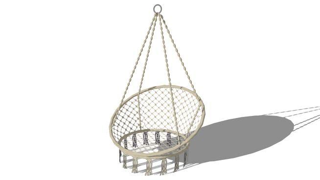 FAUTEUIL A SUSPENDRE GABRIELA, maisons du monde, ref 146696 prix 89,99 € - 3D Warehouse
