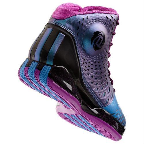 Adidas Derrick D Rose 3 5 Black Joy Blue Pink Purple G66967 Men Basketball Shoes | eBay