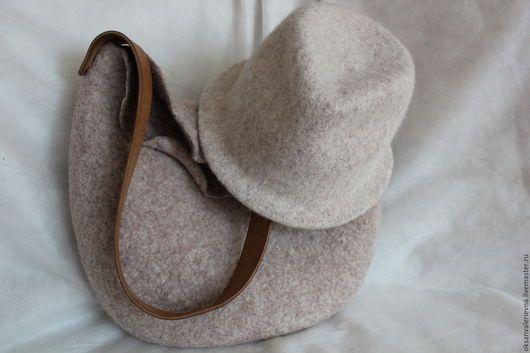 Hoeden handgemaakt.  Fair Masters - handgemaakt.  Koop Trilby hat grijze vervilte wol Uitgesteld !!!.  Handgemaakt.  grijs