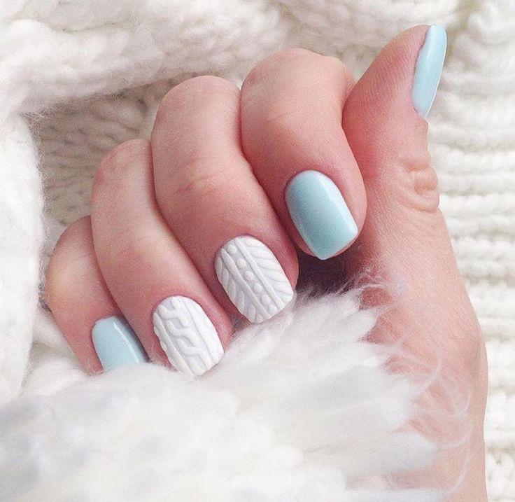 Вязаный маникюр: модный тренд этой зимы | 4mama.com.ua winter nails - http://amzn.to/2iZnRSz