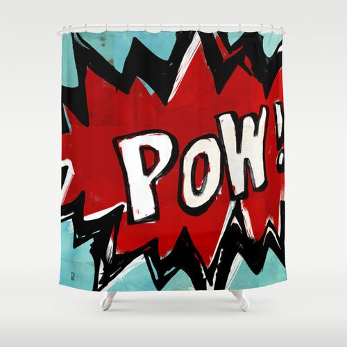 Pow Shower Curtain