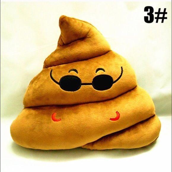 Poop emoji. New New poop cute emoji pillow. Decor. Accessories