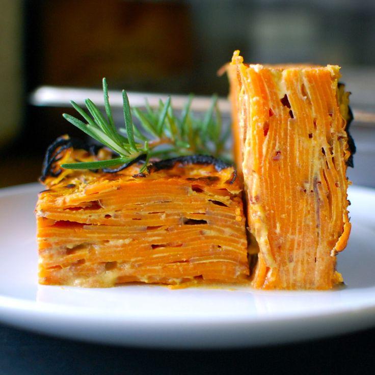 Miso Sweet Potato Pie with Crispy Onion Crust